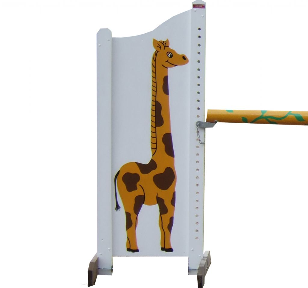French display wings with giraffe design