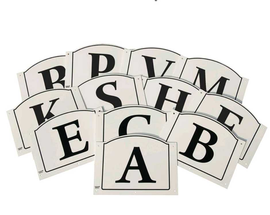 Summit dressage letters tread in set of 12