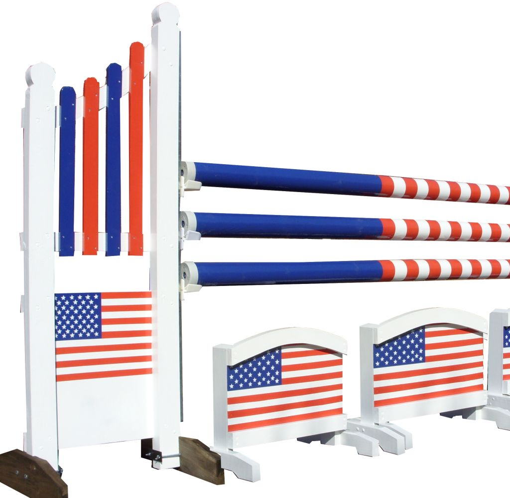 Upright jump with stars & strpies US Flag