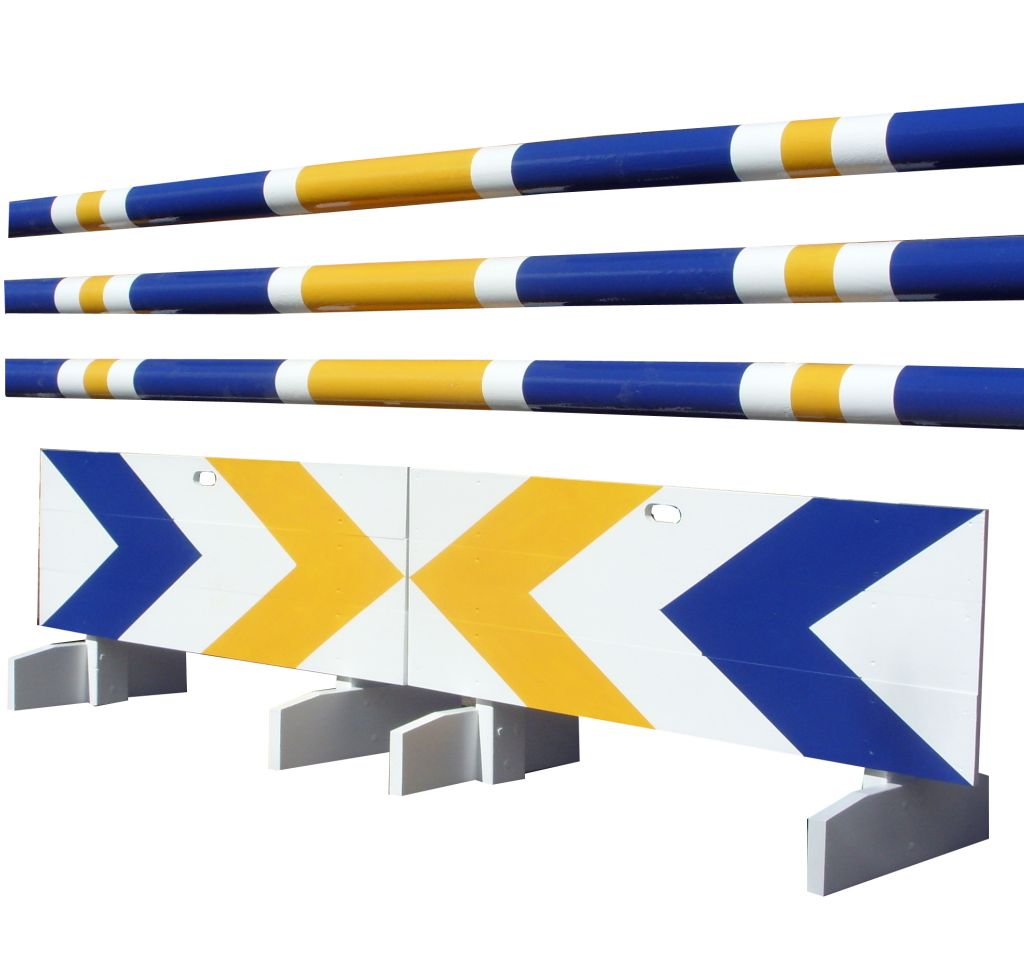 Board fillers with Navy & yellow chevrons