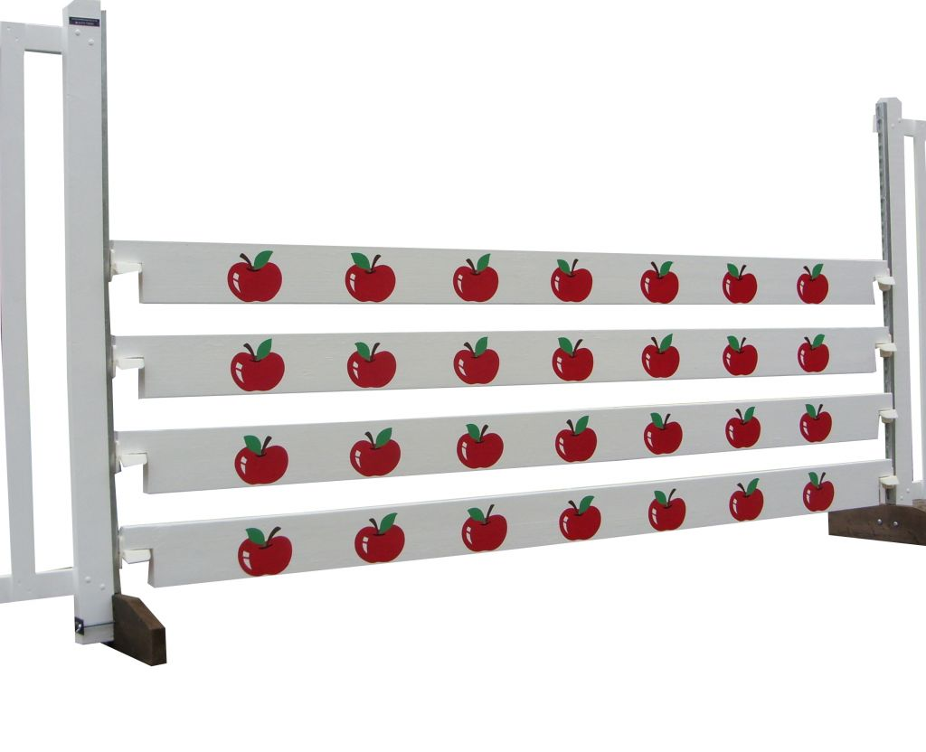 Club planks with red apples