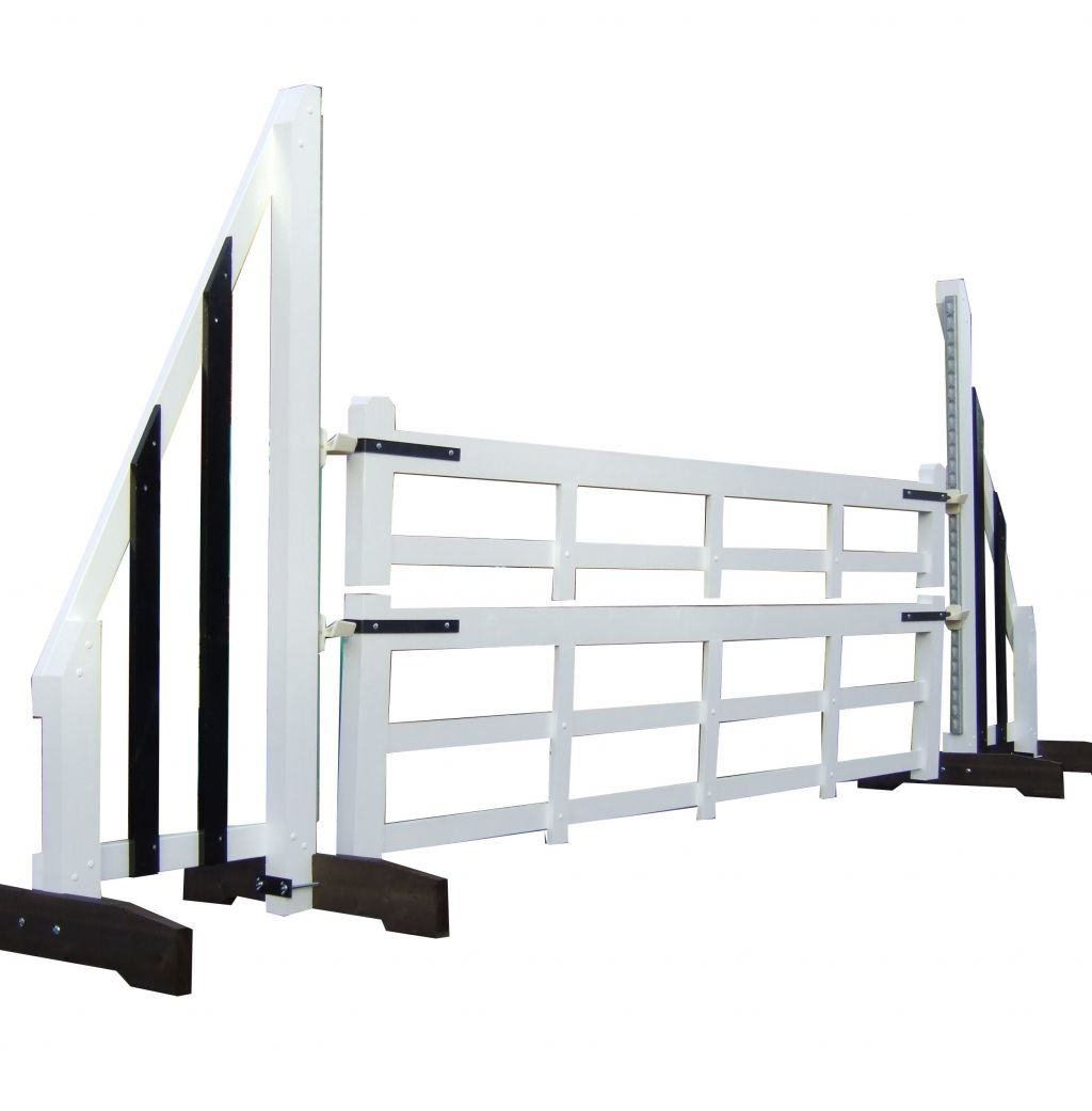 Two piece competition gate