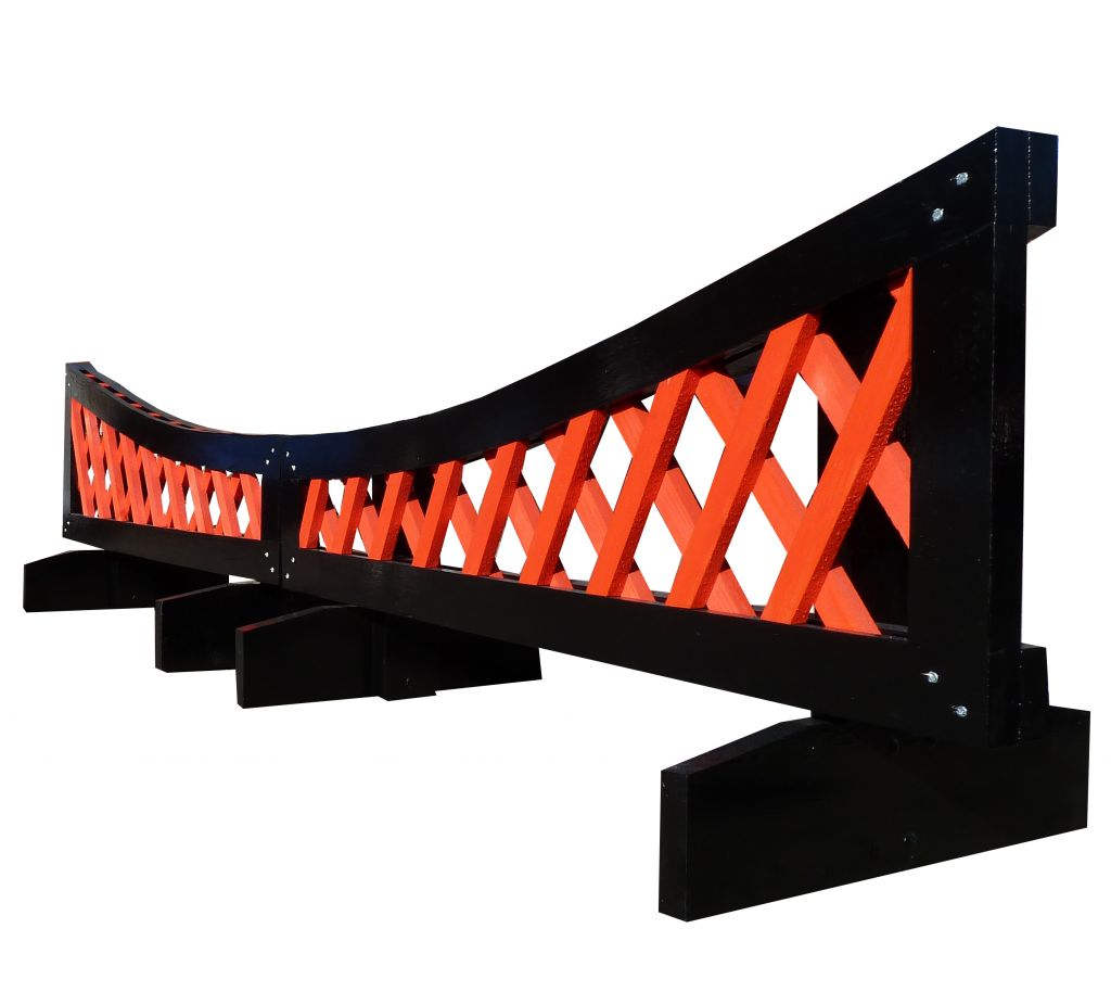 Dipping trellis filler in black & red