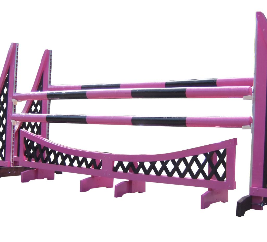 Dipping trellis fillers in bright pink & black