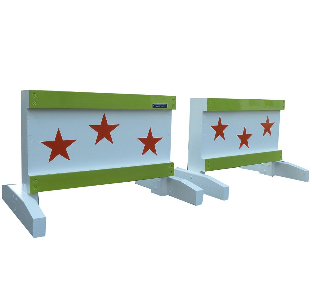 Pair of Mini fillers stars orange with bright green