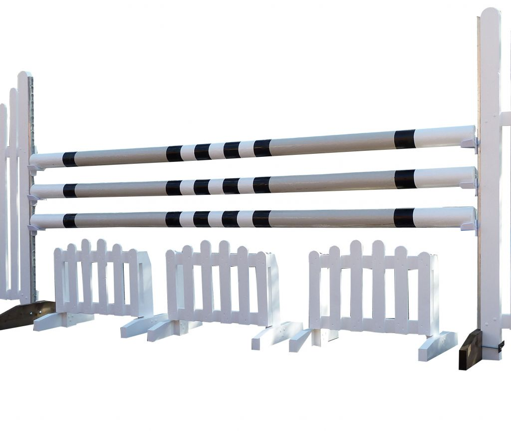 A set of 3 arch picket fillers
