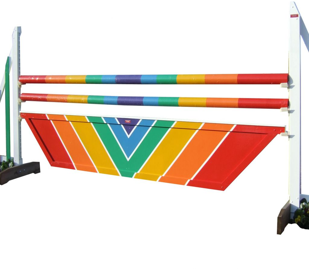 Wedge filler with rainbow design