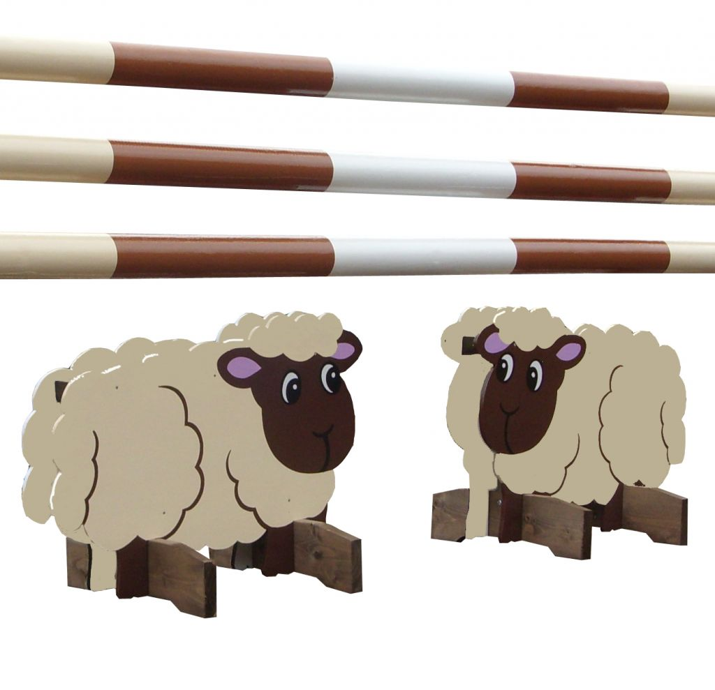 Cream and brown sheep fillers