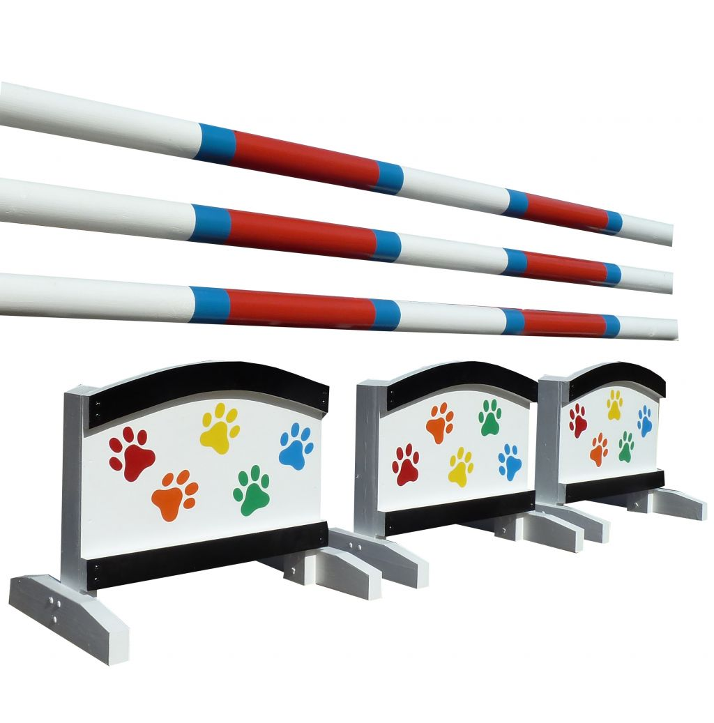 Set of 3 Arch fillers with multi coloured paws