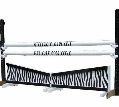 Zebra poles with white ends