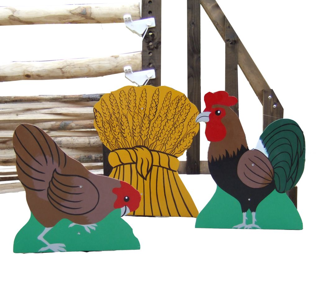Cockerel, Hen & Wheat sheef