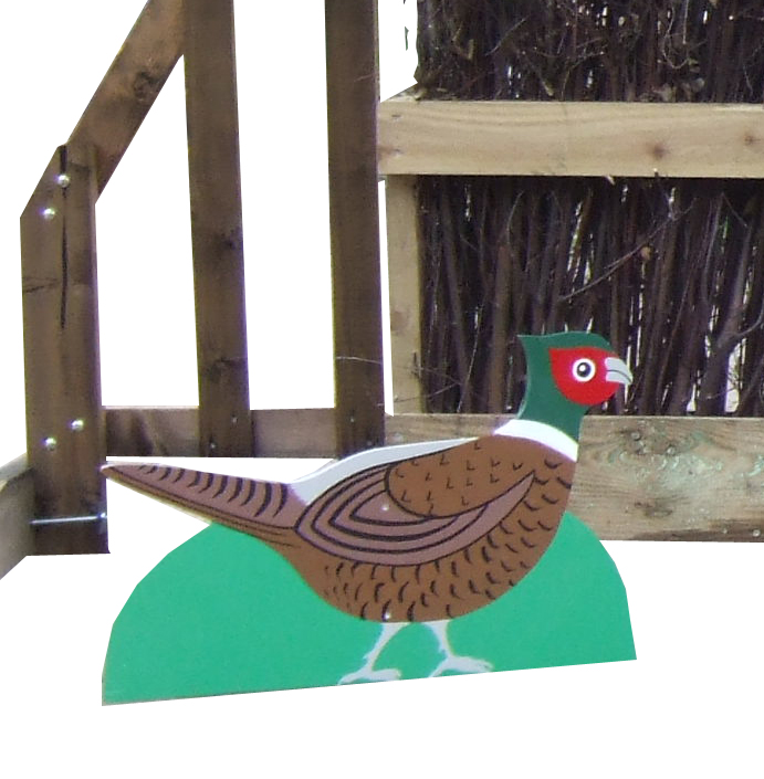 Free standing Pheasant for decorating your jumps