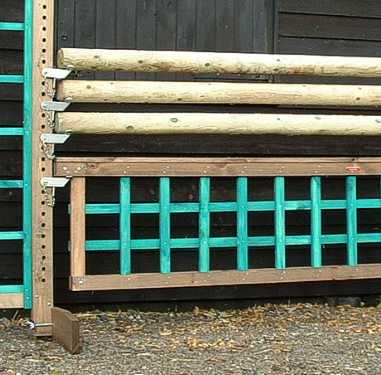 Trellis filler in rustic and green