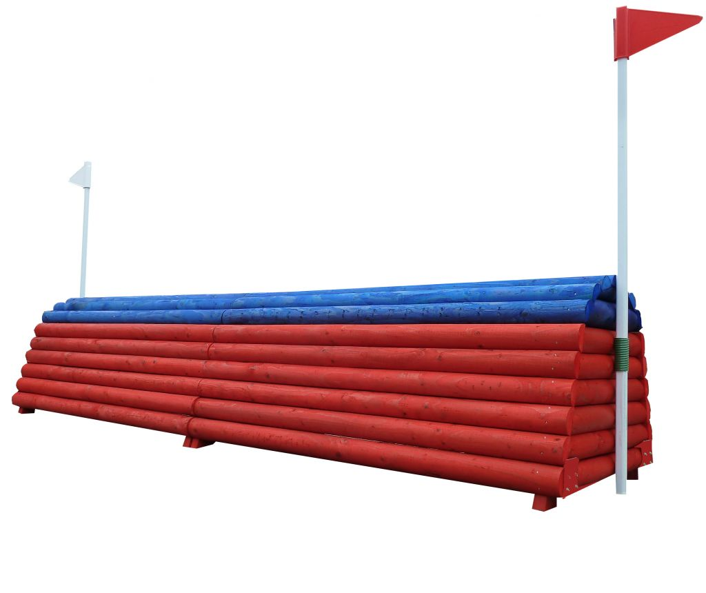 Honey Pot a height adjustable fence in red & blue