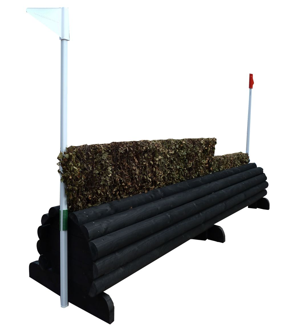 Log Roll Brush Dual height in black
