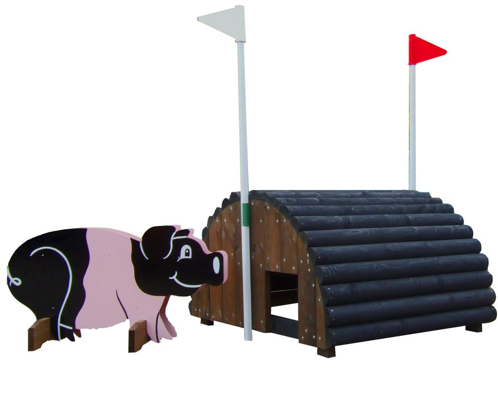 Pig Pen with Pig Filler & Flags