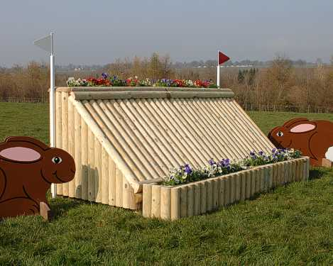 Log extender shown here with Flower bank fence
