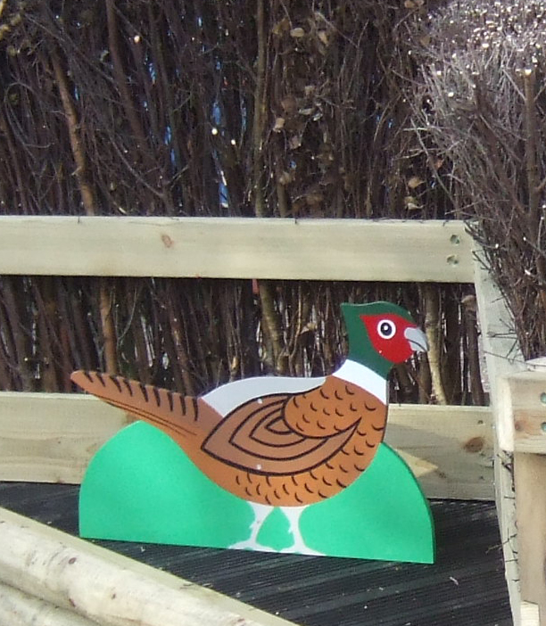 Free standing pheasant character