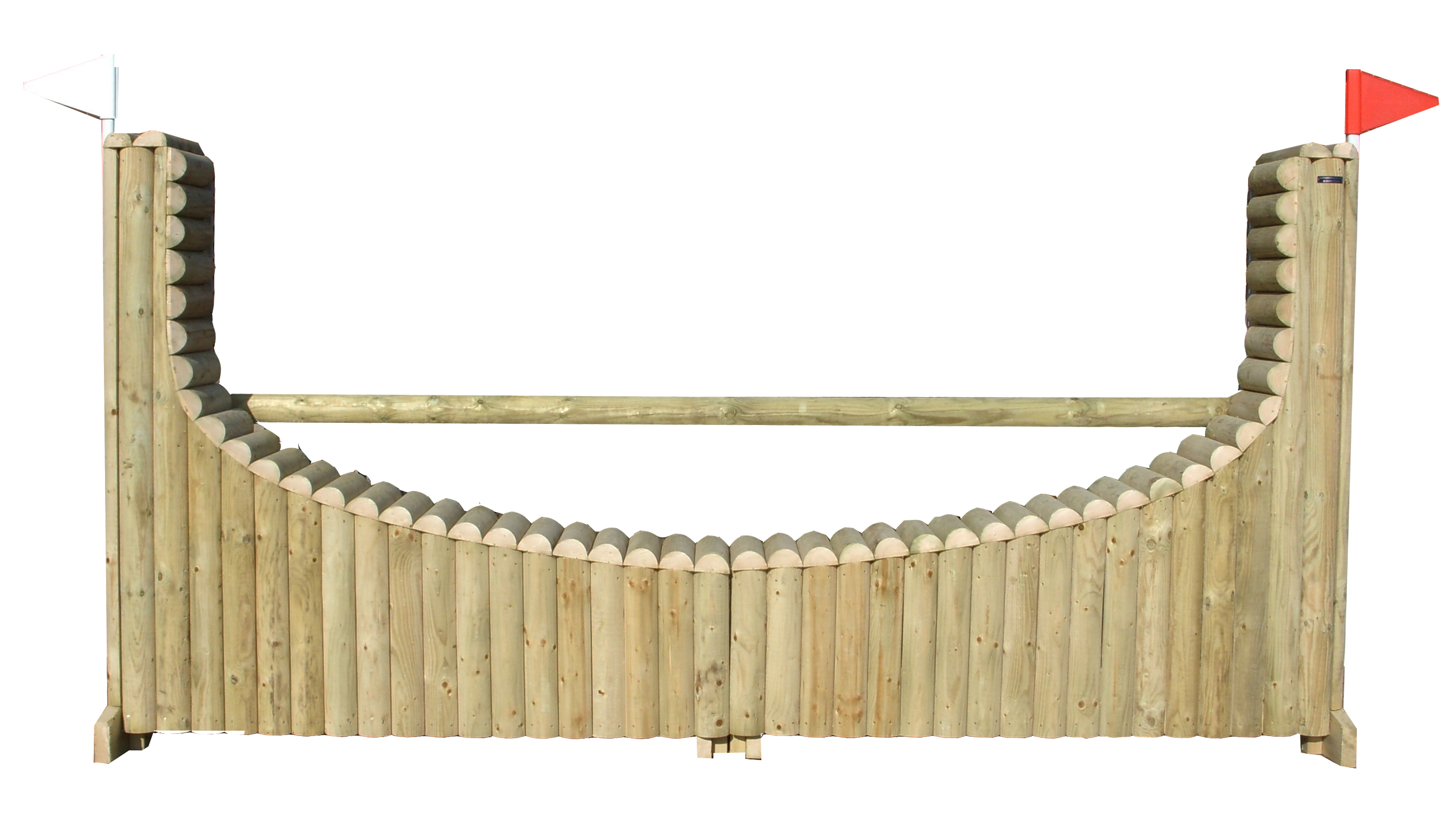 Horseshoe Log, height adjustable in 3.6m length.