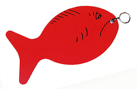 Plastic fish red