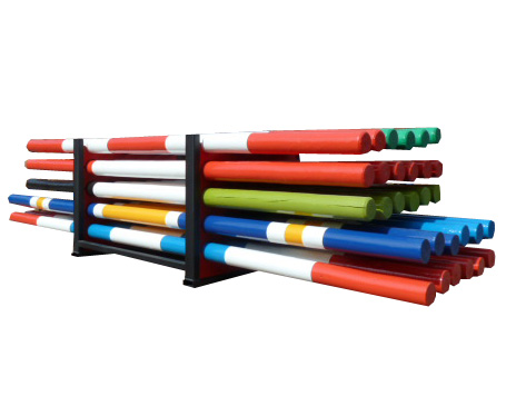 Equi Rack with dividers for 30 poles