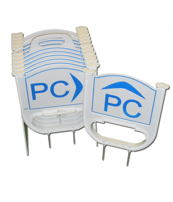 PC sign kit contains 8 Turning signs and then 4 Straight on signs