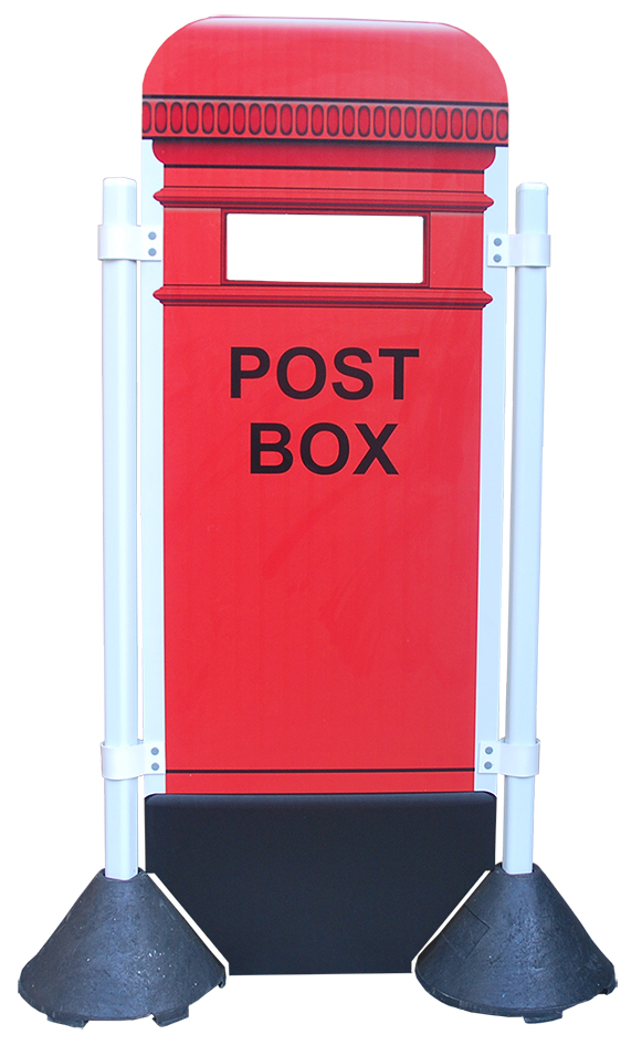 Post box panel shown with multi surface roping posts