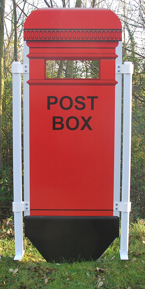Post box panel shown with roping posts