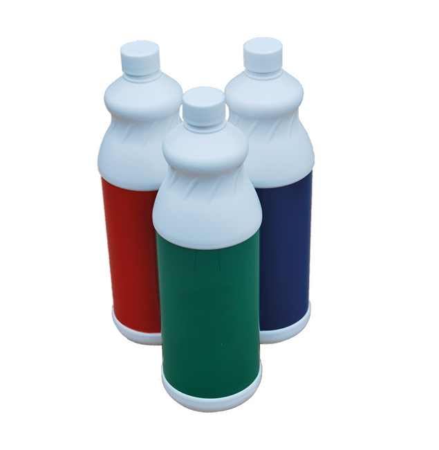 Red, Blue & Green bottles