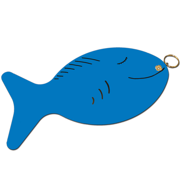 Plastic fish blue