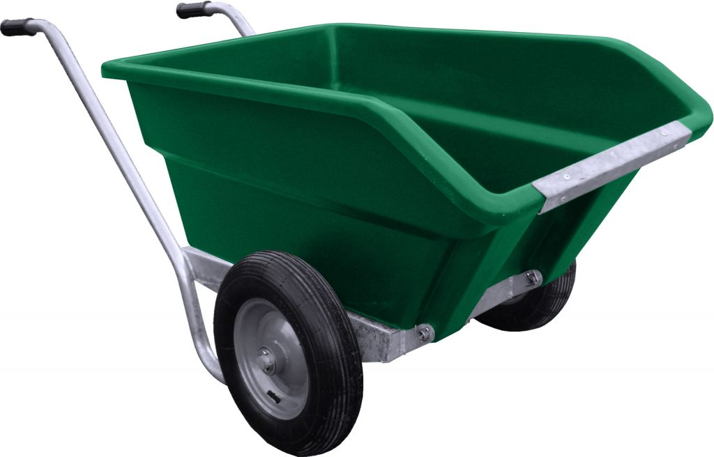 250L Tipping Wheelbarrow in green