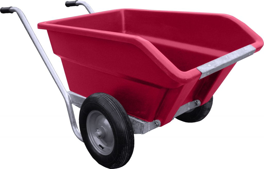250L Tipping Wheelbarrow in pink