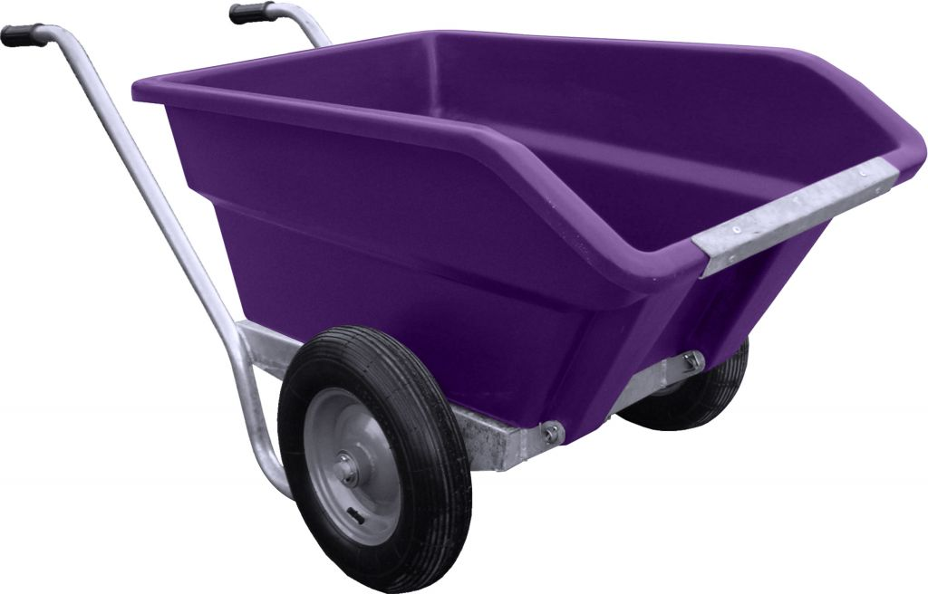 250L Tipping Wheelbarrow in purple