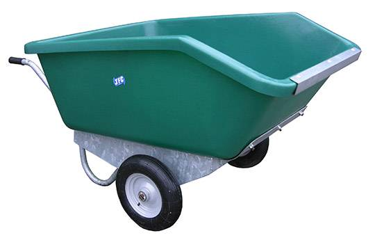 500L Tipping Wheelbarrow in green