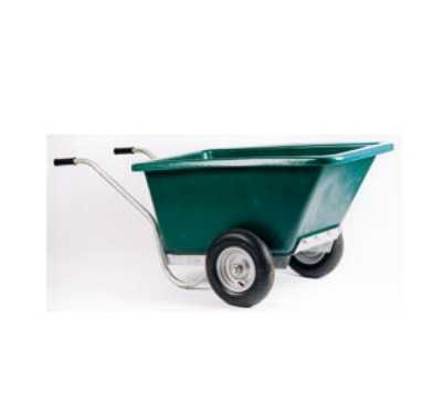 Twin wheel barrow with fixed body